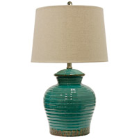 StyleCraft Home Collection L21291DS Signature 25 inch 100 watt Turquoise Table Lamp Portable Light