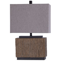 StyleCraft Home Collection L216031DS Signature 27 inch 100 watt Oralia and White Table Lamp Portable Light photo thumbnail