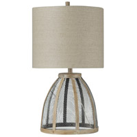 StyleCraft Home Collection L216290DS Signature 29 inch 150 watt Bateau Bay and White Table Lamp Portable Light
