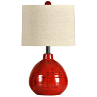 StyleCraft Home Collection L22018DS Signature 22 inch 60 watt Red Table Lamp Portable Light