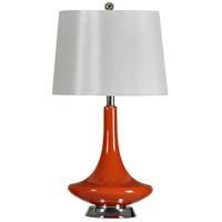 StyleCraft Home Collection L22242DS Signature 26 inch 150 watt Orange Table Lamp Portable Light
