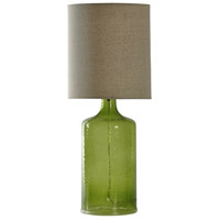 Signature 22 inch 60 watt Green Table Lamp Portable Light