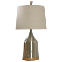 StyleCraft Home Collection L23615BDS Signature 27 inch 100 watt Steel Light Brown Table Lamp Portable Light