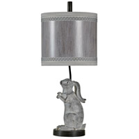 Signature 29 inch 100 watt Washed Gray and Charcoal Table Lamp Portable Light