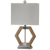 StyleCraft Home Collection L24922DS Signature 29 inch 60 watt Chrome and Brown Table Lamp Portable Light