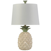 Signature 25 inch 100 watt Dole Cream Table Lamp Portable Light