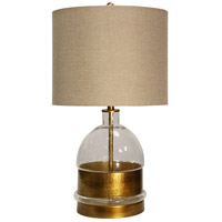 StyleCraft Home Collection L25373DS Signature 28 inch 150 watt Clear and Gold Table Lamp Portable Light