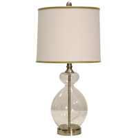 StyleCraft Home Collection L25414DS Signature 28 inch 150 watt Clear Seeded Table Lamp Portable Light