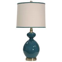 StyleCraft Home Collection L25415DS Signature 28 inch 150 watt Baltic Blue Table Lamp Portable Light