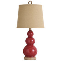 StyleCraft Home Collection L25583ADS Signature 26 inch 60 watt Red and Taupe Table Lamp Portable Light
