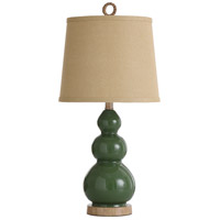 StyleCraft Home Collection L25583CDS Signature 26 inch 60 watt Green and Taupe Table Lamp Portable Light