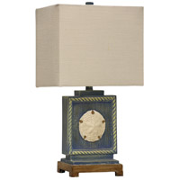 StyleCraft Home Collection L25672DS Signature 23 inch 100 watt Blue Table Lamp Portable Light