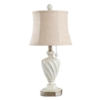 StyleCraft Home Collection L27344CDS Signature 24 inch 40 watt Distressed Cream Grey With Gold Highlight Table Lamp Portable Light