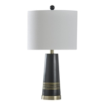 StyleCraft Home Collection L27350DS Signature 25 inch 60 watt Antique Brass Table Lamp Portable Light