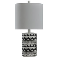 StyleCraft Home Collection L28100BDS Signature 19 inch 40 watt Black and White Table Lamp Portable Light