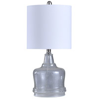 Signature 23 inch 100 watt Clear and White Table Lamp Portable Light