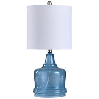 StyleCraft Home Collection L28432DS Signature 23 inch 100 watt Cerulean and White Table Lamp Portable Light