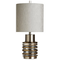 StyleCraft Home Collection L29419DS Eton 27 inch 150 watt Clear and Gold Table Lamp Portable Light