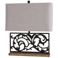 StyleCraft Home Collection L29420DS Whitby 26 inch 100 watt Dark Bronze and Natural Table Lamp Portable Light