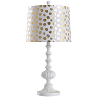 StyleCraft Home Collection L29547DS Halifax 25 inch 60 watt White Table Lamp Portable Light
