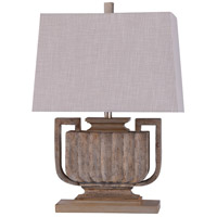 StyleCraft Home Collection L29615DS Wembley 13 inch 60 watt Stone Brown and Oatmeal Table Lamp Portable Light