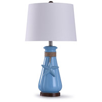StyleCraft Home Collection L29676DS Serenity 10 inch 100 watt Blue and White Table Lamp Portable Light