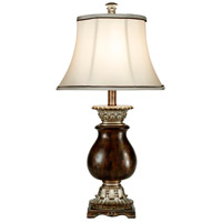 StyleCraft Home Collection L3-1047DS Signature 31 inch 100 watt Dark Brown with Khasi Silver Table Lamp Portable Light