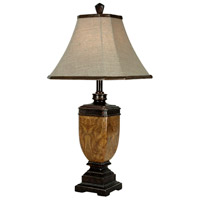 StyleCraft Home Collection L3-1070DS Signature 30 inch 100 watt Multitone Brown Table Lamp Portable Light