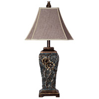 StyleCraft Home Collection L3-1121DS Signature 3 inch 100 watt Dark Blue Table Lamp Portable Light