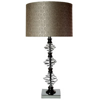 StyleCraft Home Collection L3-1150DS Signature 3 inch 150 watt Chrome and Black Nickel Table Lamp Portable Light