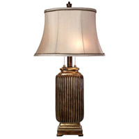 StyleCraft Home Collection L3-1232DS Signature 31 inch 60 watt Dark Brown with Khasi Silver Finish Table Lamp Portable Light