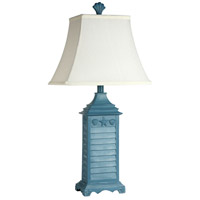 StyleCraft Home Collection L3-1294DS Signature 15 inch 60 watt Blue Table Lamp Portable Light