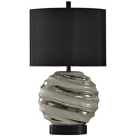 StyleCraft Home Collection L310145DS Signature 3 inch 100 watt Silver Table Lamp Portable Light