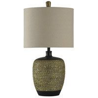 StyleCraft Home Collection L310147DS Signature 31 inch 150 watt Gold and Black Table Lamp Portable Light