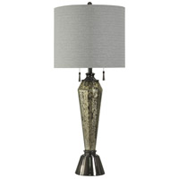 StyleCraft Home Collection L310175DS Signature 4 inch 60 watt Mercury Glass Table Lamp Portable Light