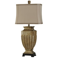 StyleCraft Home Collection L310281DS Signature 36 inch 100 watt Tan Table Lamp Portable Light