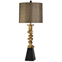 StyleCraft Home Collection L310298DS Signature 4 inch 150 watt Vintage Gold and with Black Table Lamp Portable Light
