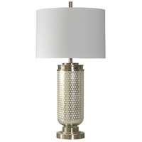 StyleCraft Home Collection L310414DS Signature 36 inch 150 watt Stainless Steel Table Lamp Portable Light