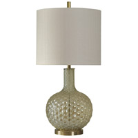 StyleCraft Home Collection L310474DS Signature 34 inch 150 watt Clear and Gold Table Lamp Portable Light