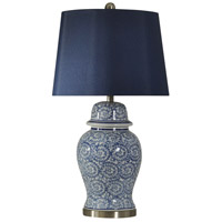 StyleCraft Home Collection L310550DS Signature 31 inch 150 watt Blue Ivy Table Lamp Portable Light