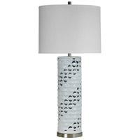 StyleCraft Home Collection L310798DS Signature 39 inch 150 watt Beachbridge White Glaze Table Lamp Portable Light
