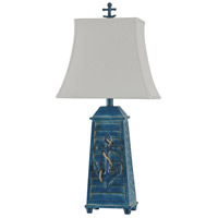 StyleCraft Home Collection L310896DS Signature 3 inch 60 watt Blue Table Lamp Portable Light
