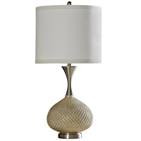 StyleCraft Home Collection L311202DS Signature 34 inch 150 watt Gold and Brushed Stainless Steel Table Lamp Portable Light