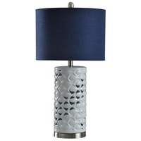 Silver and White Signature Table Lamps