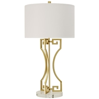StyleCraft Home Collection L311369ADS Signature 30 inch 150 watt Gold Table Lamp Portable Light