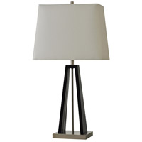 StyleCraft Home Collection L311588DS Signature 32 inch 100 watt Black and Brushed Steel Table Lamp Portable Light
