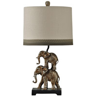 StyleCraft Home Collection L311610DS Signature 28 inch 150 watt Antique Silver Table Lamp Portable Light