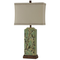 Signature 33 inch 100 watt Atelier Green Table Lamp Portable Light