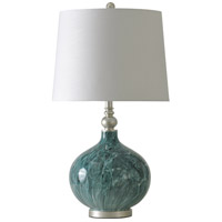 Signature 29 inch 150 watt Blue Marble Table Lamp Portable Light