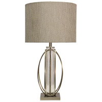 StyleCraft Home Collection L311893DS Signature 34 inch 150 watt Brushed Steel Table Lamp Portable Light